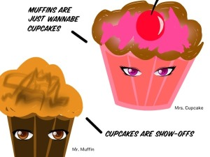 Cupcakes vs Muffins