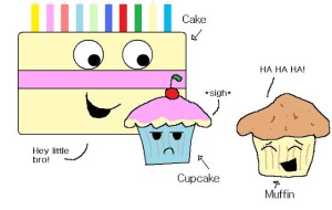 Muffins vs Cupcakes 2-paint