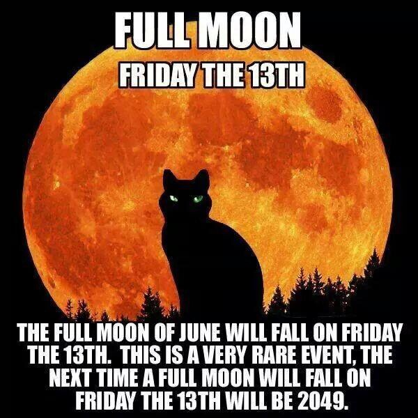 Happy friday the 13th and full moon a little bit funny for 13 floor myth